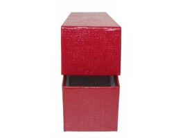 7 Red Storage Box for 2x2 Coin Holders with 700 Coin Flips (2x2x9) Single Row image 2