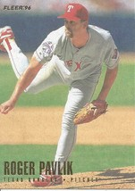 1996 Fleer Roger Pavlik 259 Rangers - $1.00