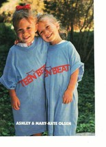 Mary Kate Olsen Ashley Olsen teen magazine pinup clipping Teen Beat blue t-shirt
