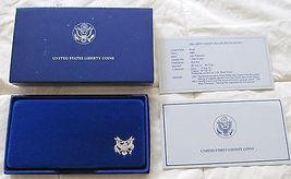 1986 UNITED STATES LIBERTY PROOF SILVER AND HALF-DOLLAR 2 COIN PROOF SET image 3
