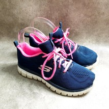 Skechers Womens  12615W Size 6 Blue  Textile Running Shoes - $19.99