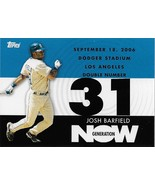 Josh Barfield Topps 2007 #GN581 Generation Now San Diego Padres Clevelan... - $0.50