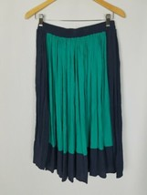 Anthro Sunday in Brooklyn women S color block a-line skirt green black - $34.65
