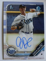 2019 Bowman Draft Chrome John Doxakis Rays 1st Bowman Auto Baseball Card  - $8.99