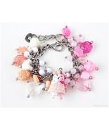 Danganronpa Monomi Charm Bracelet, Bunny Bracelet, Sweet Lolita, Gamer G... - $45.00