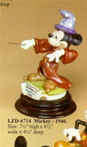 Mickey  Sorcerer 194 0Disney Laurenz Capodimonte C.O.A, Original Box - $260.00