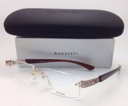 Neu Kazuo Kawasaki Brille Mp 708 43 51-19 Titan Rahmenlose Gold&brown Rahmen