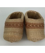 Handmade Birch Bark Wicker Bast Shoes Peasant Footwear Country House Far... - $23.42