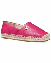 Michael Kors MK Women's Kendrick Leather Slip On Flats Shoes Ultra Pink