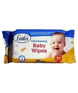 New Little's Soft Cleansing Baby Wipes (80 Wipes X 2 pack ) with free sh... - $16.12