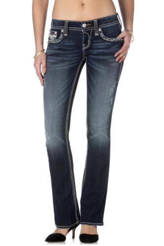 Rock Revival Women's Premium Distressed Boot Cut Denim Jeans Bali B6