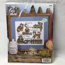 Design Works A Cat Is ... Cross Stitch Kit 10x12 NEW Craft - $19.79