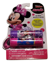 Minnie Mouse Lip Balm 2 Pack - Strawberry and Cotton Candy Flavors