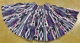 Native American Aztec Print Girls Dance Skirt Purple Black Ruffle Fan Me... - $24.99