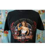 Harley Davidson Motorcycle Pin Up Girl Myrtle Beach T Shirt XL - $16.82