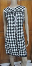 MUSE Size 12 Hounds Tooth Sleeveless Knee Length Sequin Detail Dress NWT - $26.53