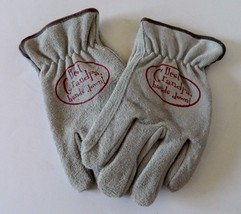 Gray Suede Work Gloves with Best Grandpa, Hands Down! written on them Si... - $14.84