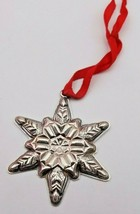 Hard to Find Gorham 1970 Sterling Snowflake Pendant/ Medallion w/ No Cha... - $99.00