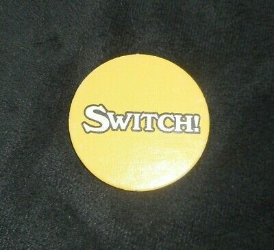 VINTAGE 1987 PIZZA PARTY BOARD GAME REPLACEMENT PART PIECE YELLOW SWITCH TOKEN