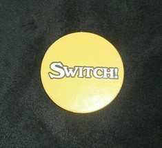Vintage 1987 Pizza Party Board Game Replacement Part Piece Yellow Switch Token - $4.00