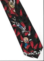 Elmer Fudd Taz Bugs Bunny Necktie black red hot chilli red peppers neck ... - $19.77