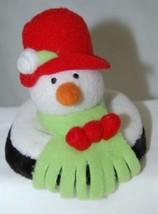 Carrie Olsen Garrard Snowman Plush Holiday Attachable Coasters Drink Wear 2 Set image 2