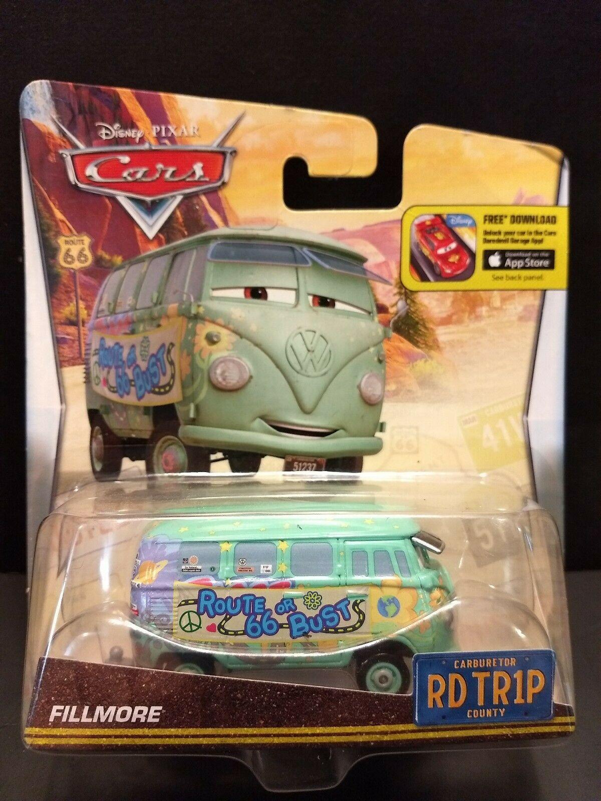 Sealed 2015 Mattel Pixar Disney Cars Fillmore Road Trip toy van Route 66 or Bust image 4