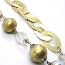 Silver necklace 925, Yellow, Drop, White Agate Large Oval Satin image 5