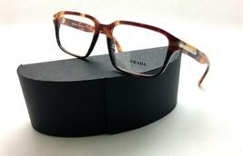 Prada Journal Amber Brown Two Tone Grey Eyeglasses Vpr 09T Ufn Case Not Included - $86.80
