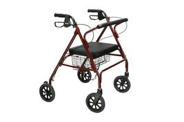 Drive Medical Go-Lite Bariatric Steel Rollator 500lb Weigh Capacity - $135.00