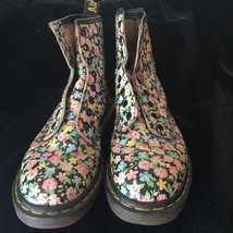 DOC MARTENS RARE VINTAGE FLORAL BOOTS MADE IN ENGLAND 6UK US WOMENS 8 1/2 - $150.00