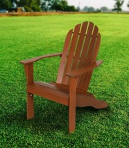 Wood Adirondack Chair Outdoor Lawn Patio Furniture Solid Wood Fan Back N... - $95.83