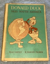 1945 DONALD DUCK Sees South America Walt Disney 1st Ed D.C. Heath Hardco... - $18.42