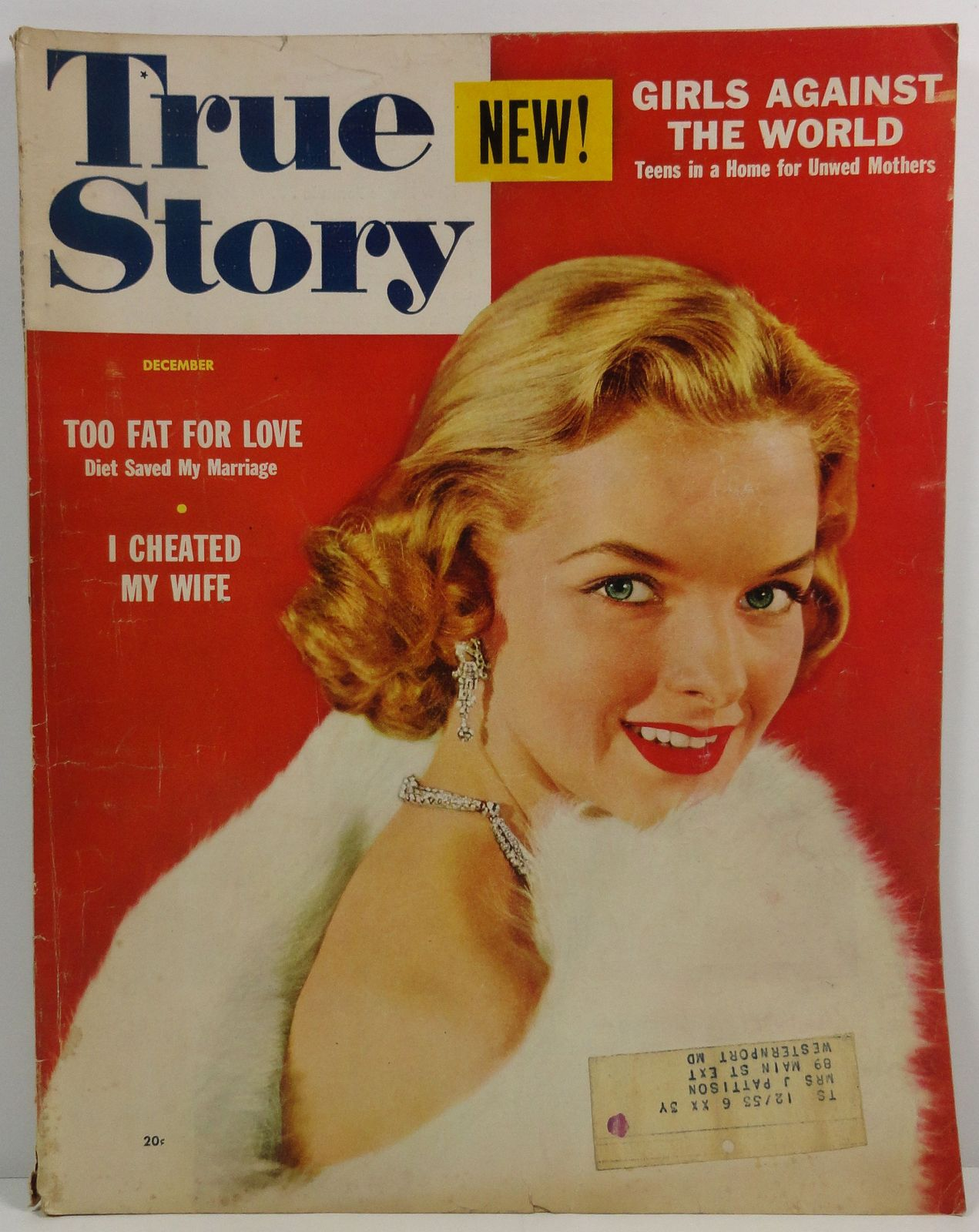 True Story Magazine December 1953 Lois Gunas Cover