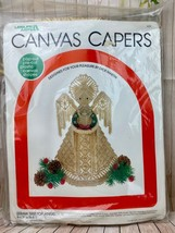 1983 Leisure Arts Canvas Capers Straw TreeTop Angel Kit 438 - $15.90
