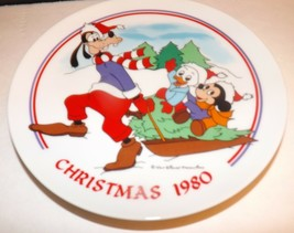 Schmid Walt Disney Character Christmas 1980 Sleigh Ride Collectors Plate - $22.20