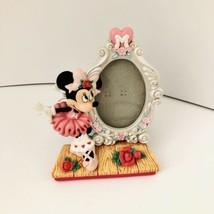 "Rare Walt Disney Enesco Minnie Mouse Ballet Dress Oval Picture Frame 3""x2.5"" - $10.79"