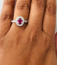 925 Sterling Silver Natural A+ Quality Ruby And Cz Gemstone Handcrafted Design W image 5