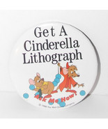 Walt Disney World Cinderella Mice Button 1988 3in Jaq Gus Cast Member Pi... - $49.99