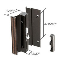 "CRL High Profile Black Hook-Style Surface Mount Handle; 4-15/16"" Screw Holes - $39.55"