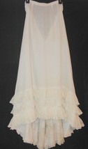 Vintage Victorian white Cotton Ruffled Lace Bustle Petticoat Back Train ... - $178.19