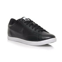 NIKE RACQUETTE LEATHER WOMEN'S BLACK/WHITE CASUAL SHOES Size 7, #454412-009 - $35.54