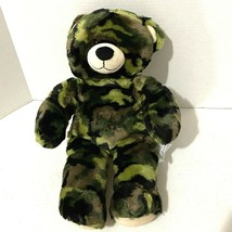 "Build a Bear Camo Teddy 16"" Green Camouflage Military Army Kids Toy BABW 2013 - $18.70"
