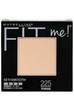 Maybelline Fit Me! Pressed Powder set +smooth 225 Medium Buff - $6.92