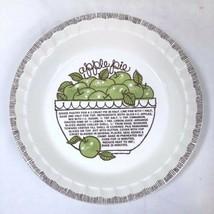 Vintage Royal China Ohio Country Harvest Apple Pie Recipe Pie Plate Dish - $16.65
