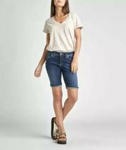 Silver Jeans Short Size 14 Denim Knee Length Bermuda Curvy Mid Rise Suki - $26.07