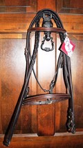 Bobby's WB Sz Dark Brown Raised Bridle-BRASS Hardware w/Laced Reins - $122.00