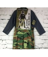 Skull Soldier Large Military Swat Team Army Camouflage Halloween Child Costume - $24.74