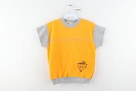 Vintage 80s Puma Sports Youth Medium Spell Out Short Sleeve Crewneck Sweatshirt - $39.55