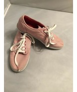 Vans Red White Candy Striped Shoes Size 7 Tennis Shoes Lace Up Trainers - $19.80